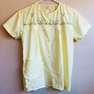 Vintage Elimare Yellow Button Down Top
